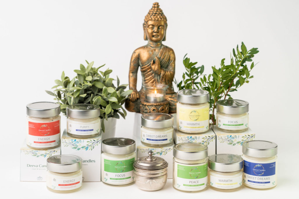 A collection of Deeva candles