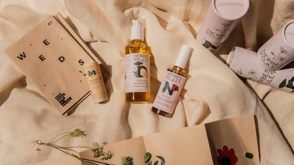 herbes folles - weeds-based skincare products