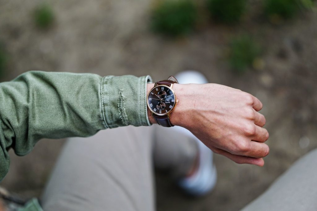 A watch from Montreville on a man's wrist