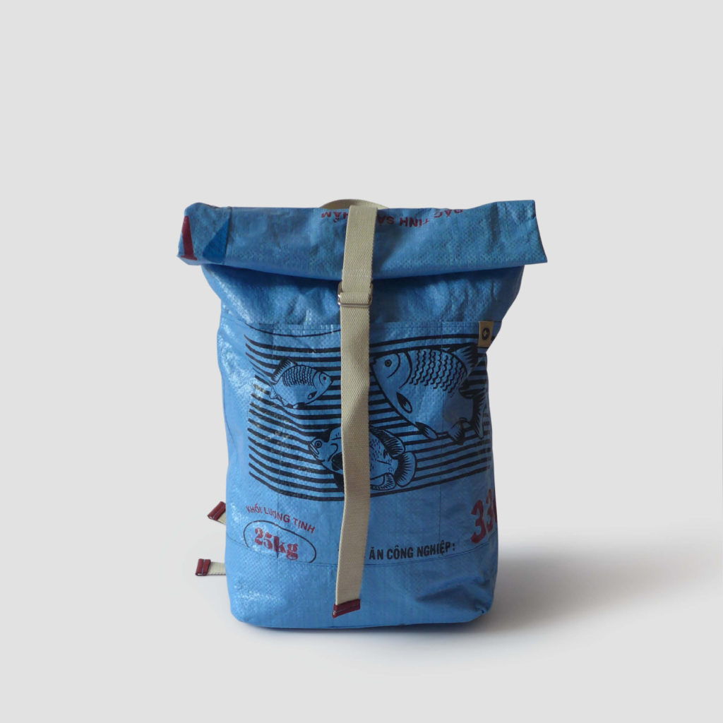 A blue backpack from Refished