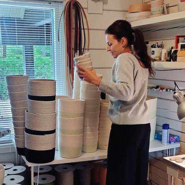 Koba, the founder, in her studio