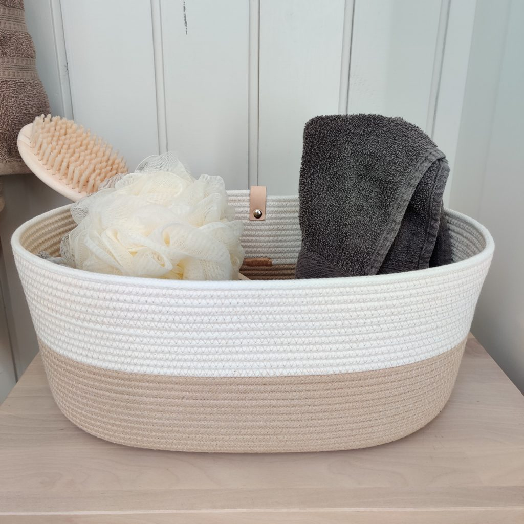 A small basket for the bathroom
